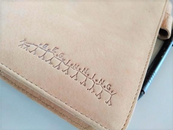 ベージュの手帳サムネイル